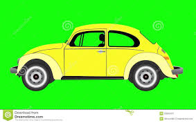 volkswagen green animation of volkswagen beetle on green screen stock video