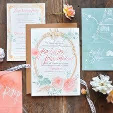 watercolor wedding invitations brides