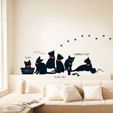 Decoration Cat Wall Decals Home by Qoo10 Sale Diy Wall Decor Stickers Vinyl Decals Home