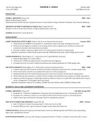 investment banking resume template resume for your job application