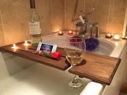 Wood Bathtub Caddy Wooden Bath Board Bath Bridge Bath Caddy Bath Rack Bathroom Wine
