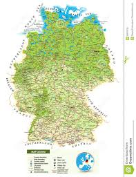 Us Physical Map Large Detailed Physical Map Of Germany Stock Vector Image 58919133