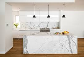 marble island kitchen white marble island houzz