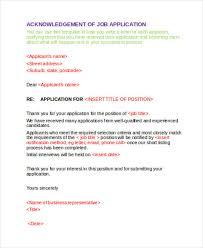 41 acknowledgement letter examples u0026 samples