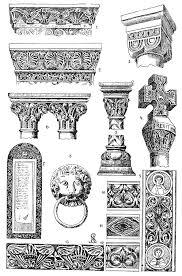romanesque ornament photograph by granger
