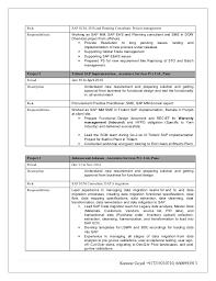 Sap Abap Sample Resume 3 Years Experience by Sap Abap Data Migration Resume Contegri Com
