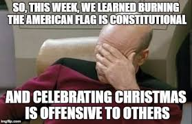so this week we learned burning the american flag is