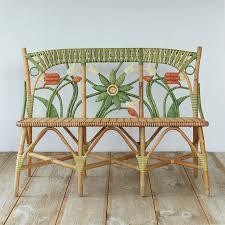 floral rattan bench terrain