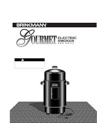 Brinkmann Smoke N Grill Professional Smoker by Brinkmann Smoker Electric Smoker User Guide Manualsonline Com