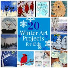 the unlikely homeschool 20 winter art projects for kids