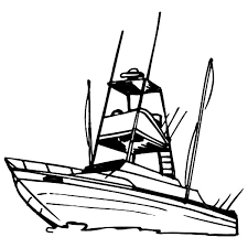 Boat Coloring Pages Fishing Coloringstar