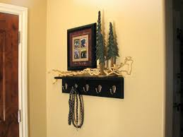 decorations fork hook coat rack with shelf in stained dark brown