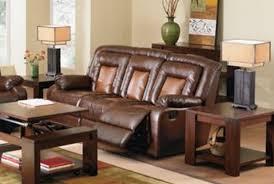 Two Tone Reclining Sofa Roundhill Furniture