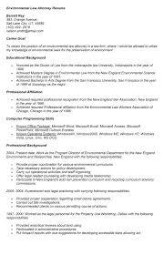 environmental law attorney resume legal secretary job seeking