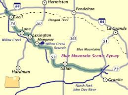 map of oregon mountains blue mountain scenic byway oregon