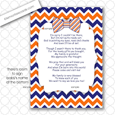 boy thank you poem note card instant download boy baby