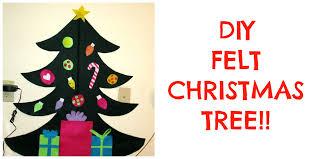 diy felt christmas tree toddler activity youtube