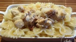 cuisine pates pâtes au poulet chorizo sauce crème la tendresse en cuisine