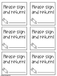 sign and return labels by haylee deloach teachers pay teachers