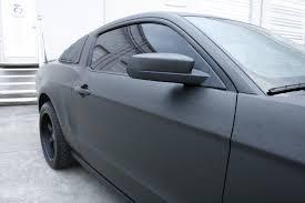 Mustang Matte Black Ford Mustang Matte Black Car Wrap Fort Lauderdale Florida