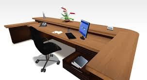 Second Life Marketplace Paragon Wood Reception Desk Set Full Perm