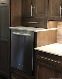 great look and an even greater benefit a raised dishwasher in