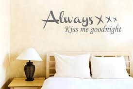 Wall Art Stickers And Decals by Aliexpress Com Buy Hwhd Always Kiss Me Goodnight Wall