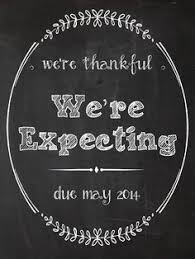 Announcing Pregnancy At Thanksgiving Thanksgiving Pregnancy Announcement Chalkboard 14x11