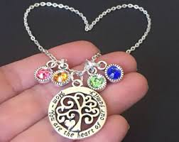 Necklace With Children S Birthstones Gold Filled Family Circle Necklace Childrens Birthstones