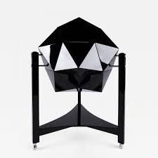 ico parisi inspired polyhedron bar cabinet modernism