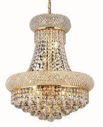 Elegant Lighting Chandelier Lighting 1800d16 Primo 8 Light Crystal Chandelier