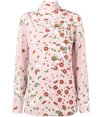 print blouse valentino floral print blouse pink silk blouse