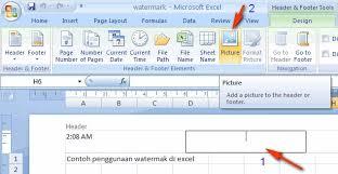 cara membuat tulisan watermark di excel cara membuat gambar watermark di excel 2007 komputer seo