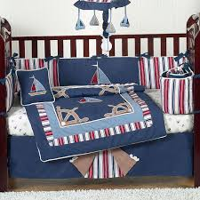 Nautical Themed Baby Rooms - bedding set nautical baby bedding for babys room scene beautiful