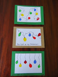 kids handmade christmas cards christmas lights decoration