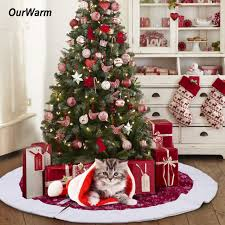 tree skirts ourwarm 48inch christmas tree skirt velvet snowflake tree skirt