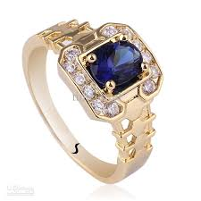 new mens rings images 2018 new men 39 s oval blue sapphire gold finish sterling 925 silver jpg