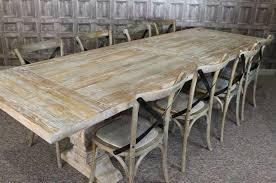Large M Distressed Limed Elm Dining Table White Washed Kitchen - Distressed white kitchen table