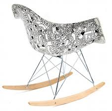 chaise bascule eames chaises eames par mike perry mobilier mobilier déco