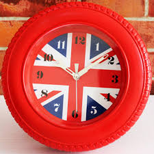 Horloge Murale Rouge by Comparer Les Prix Sur Wheel Wall Clock Online Shopping Acheter