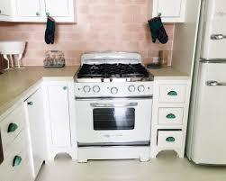 large glass tile backsplash u2013 other kitchen retro kitchen pink tile backsplash big chill white