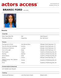 Acting Resumes With No Experience Download Professional Acting Sample Resume Haadyaooverbayresort Com