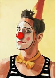 birthday clowns it tougher than you think i ll take that robert owen original painting rodeo clown 24 x 36 rodeo