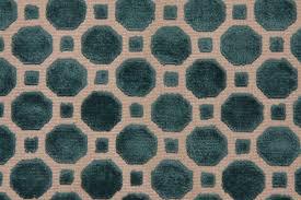 Velvet Chenille Upholstery Fabric Robert Allen Velvet Geo Upholstery Fabric In Turquoise