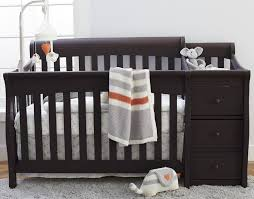 Storkcraft Portofino Convertible Crib And Changer Combo Espresso by Crib Changing Table Dresser Combo Home Design Ideas And Pictures