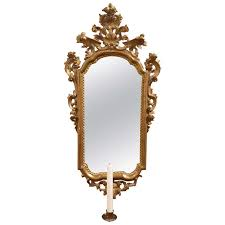 Sconce Mirror 19th Century French Gold Gilt Mirror Candle Sconce For Sale At 1stdibs