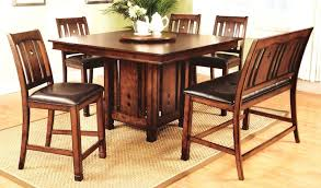 counter height pedestal table 7 pc dirty oak finish wood sabrina
