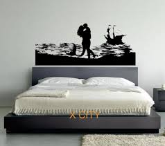search on aliexpress com by image the mermaid and her man lovers sea silhouette vinyl wall decal art decor sticker living room door stencil mural s m l