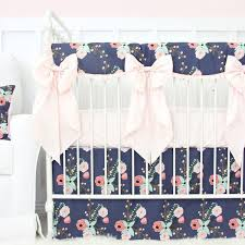 Modern Crib Bedding For Girls by Navy Blue Crib Bedding Caden Lane U2013 Tagged