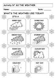 esl kids worksheet weather worksheets weather pinterest kids